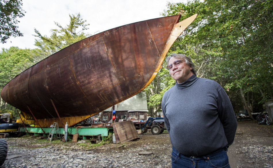Kenneth Koehler, treasurer of a foundation named after the Island Rover, says the group is committed to launching the schooner. But Freeport town councilors have concerns about the foundation's ability to complete the project, and there are lingering concerns about environmental damage at the building site.