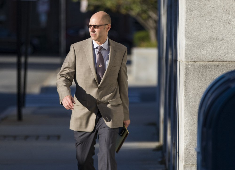 Defendant Gregory Nisbet arrives Wednesday at the Cumberland County courthouse for the third day of his manslaughter trial.