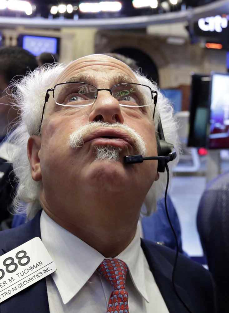 Peter Tuchman works the stock exchange floor.