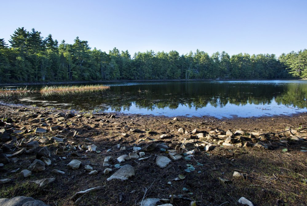 Chase's Pond in York, a public water supply, was down more than four feet in September. Many locations in southern Maine received less than one inch of rain for the month.