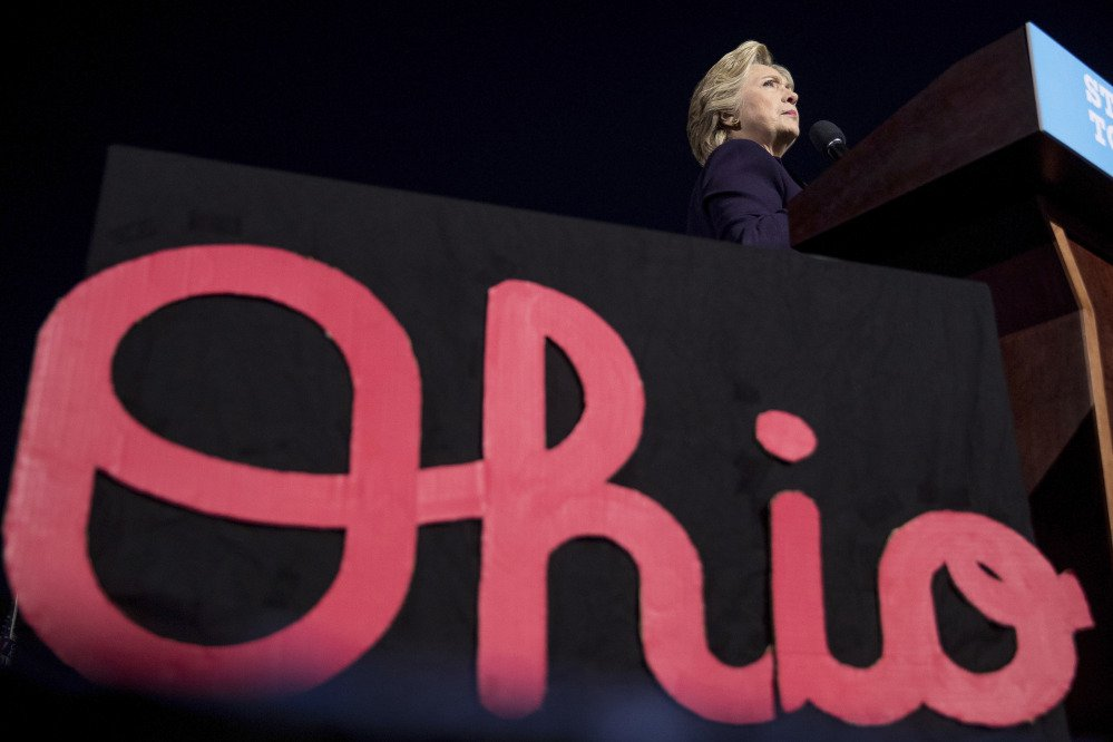 Hillary Clinton in Columbus, Ohio, Monday. WikiLeaks released emails showing a power struggle between Clinton's daughter, Chelsea, and an aide who worked for the family's charity.