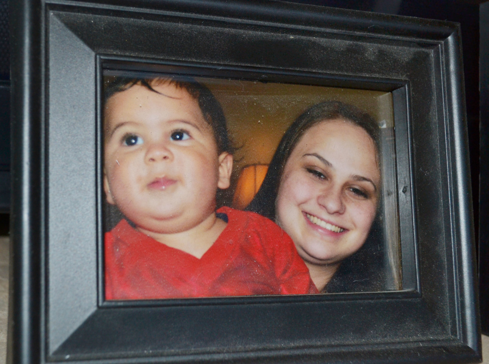 This March 2012 photo provided by the family shows Bryson Mees-Hernandez, 9 months, with his mother, Crystal Mees, in Houston.