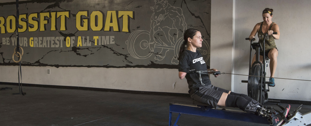 Despite a ravaged body, Marine veteran Cindy Martinez embarked on becoming a Crossfit athlete last February.