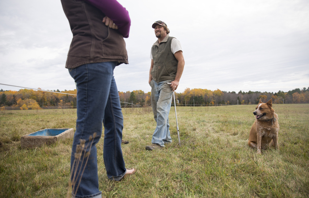 Extreme and severe drought conditions continue in the southern third of the state, including parts of Androscoggin County where Steve and Seren Sinisi live with their cattle dog, Red.