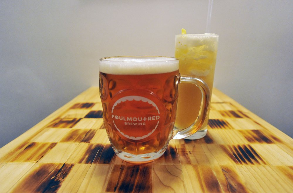 Brat, a German-style session ale, and an Autumn Fizz, with dry-hopped bourbon, apple cider, ginger syrup, lemon and club soda.