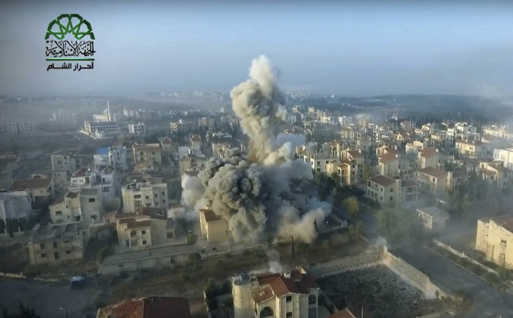 The Syrian military began its offensive in war-torn Aleppo with a series of airstrikes on Saturday.