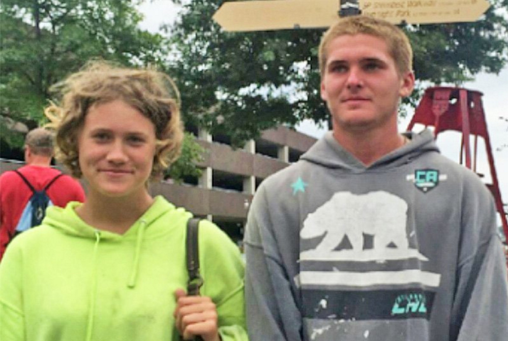 Collette Boure, left, of Standish and Alexander Meyers of Portland, both 17, had recently been reported missing.