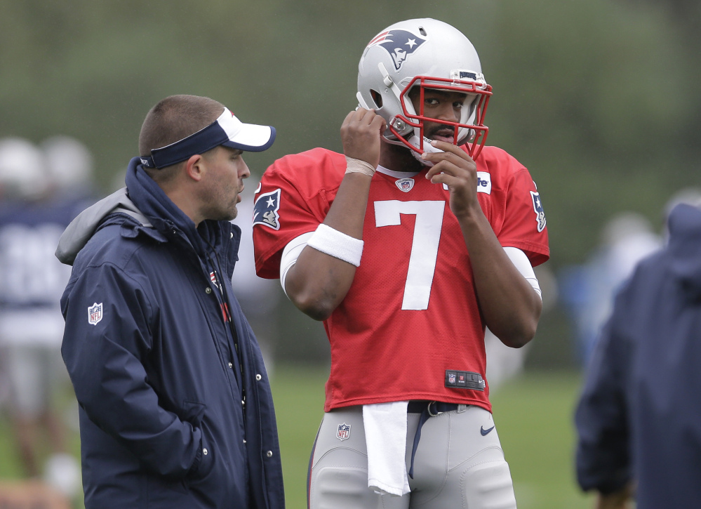 Jacoby Brissett started at quarterback for the Patriots on Sunday against the Buffalo Bills.
