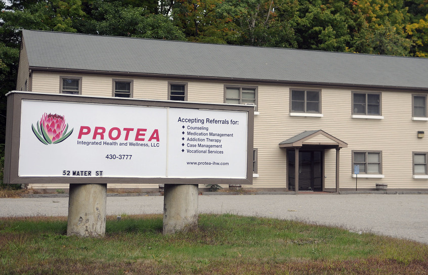 The Protea Integrated Health and Wellness campus in Hallowell, seen on Monday, shut its doors Friday with little notice to its 300 patients.
