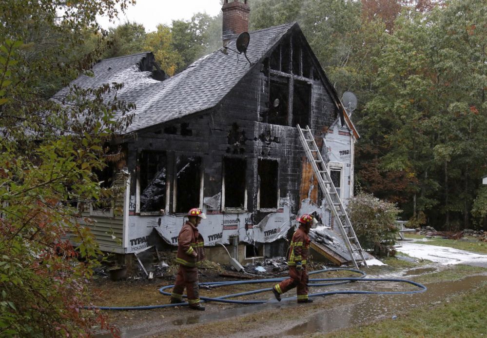 The fire started just before 8 a.m. and was reported by one of the occupants. Joel Page/Staff Photographer