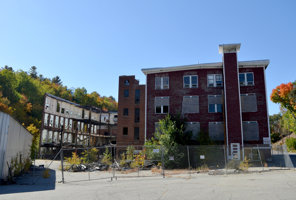 The Forster Mill remains upright in Wilton on Friday.