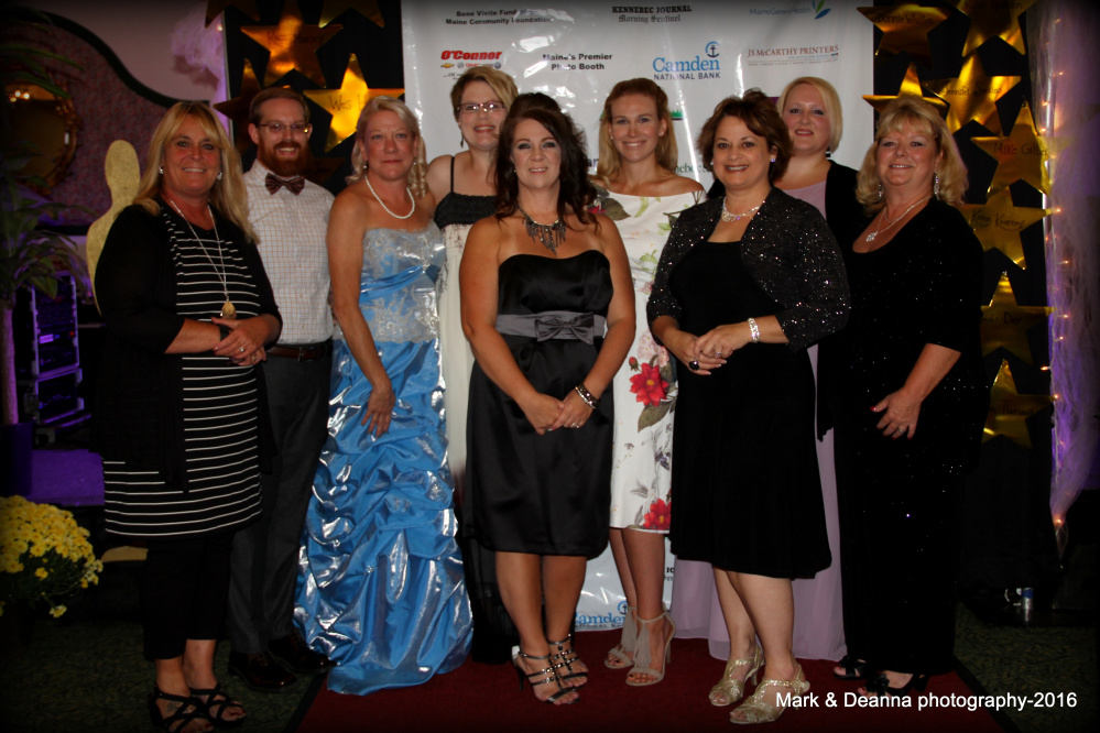 The Sexual Assault Crisis and Support Center hosted its 17th annual Celebrity Dinner on Sept. 17. SAC&SC staff from left are Deanna Walker, Sean Landry, Kathleen Paradis, Susan MacMaster Beaulieu, Jenna McCarty Mayhew, Samantha Marquis, Kathleen Auclair, Sara Bangs and Donna Strickler.