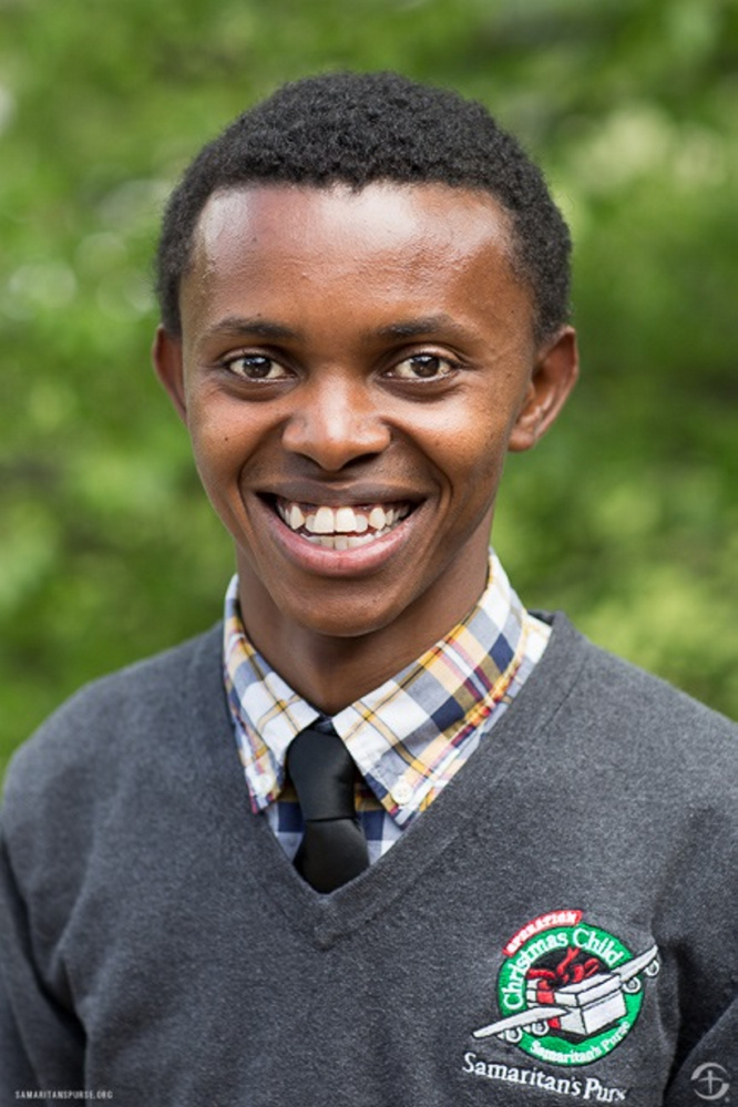 Alex Nsengimana, whose life was changed when he received a gift-filled shoebox while living in an orphanage in Rwanda, will speak during a speaker tour for Operation Christmas Child on Oct. 22 in Augusta.