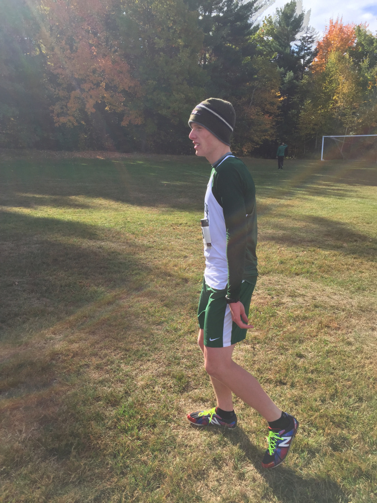 Winthrop's Jacob Hickey won the Mountain Valey Conference cross country championship Saturday in Augusta.