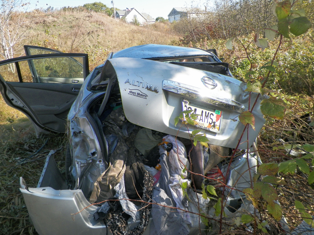 Maine State Police, Sidney rescue crews and Delta Ambulance responded to this crash on West River Road in Sidney on Monday.