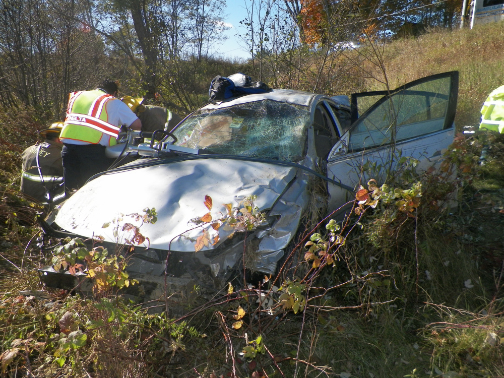 A car driven by Jordan Agger, 20, of Sidney, crashed on West River Road in Sidney on Monday, police said.