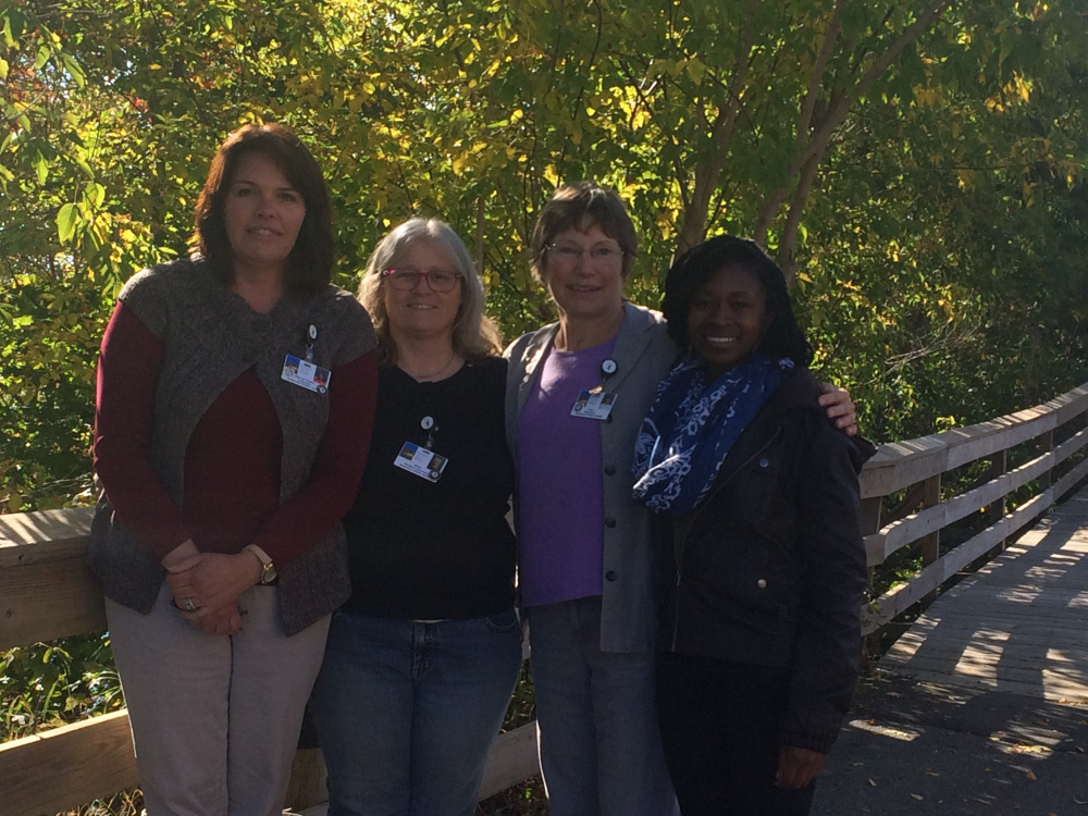 AmeriCorps Somerset County Program member, from left, are Cheryl Curtis, of Madison, Amy Lessard, of Fairfield, Liza Russell, of Cornville and Lourine Weller, of Skowhegan.