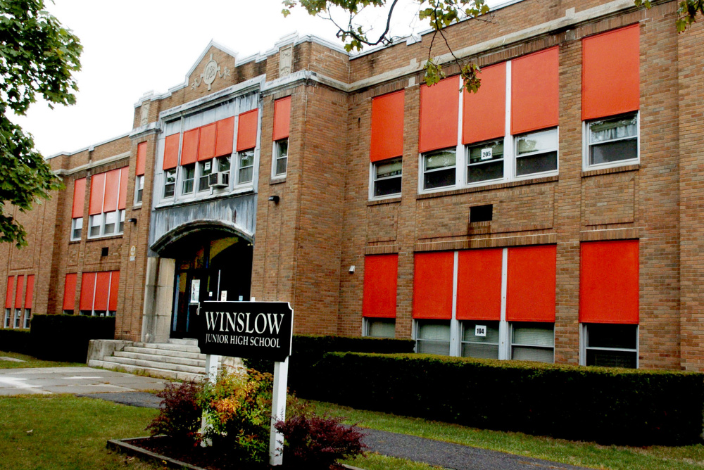 An architect has been working with a school building committee to figure out how to move Winslow Junior High School students into other renovated town schools after the current school is torn down.