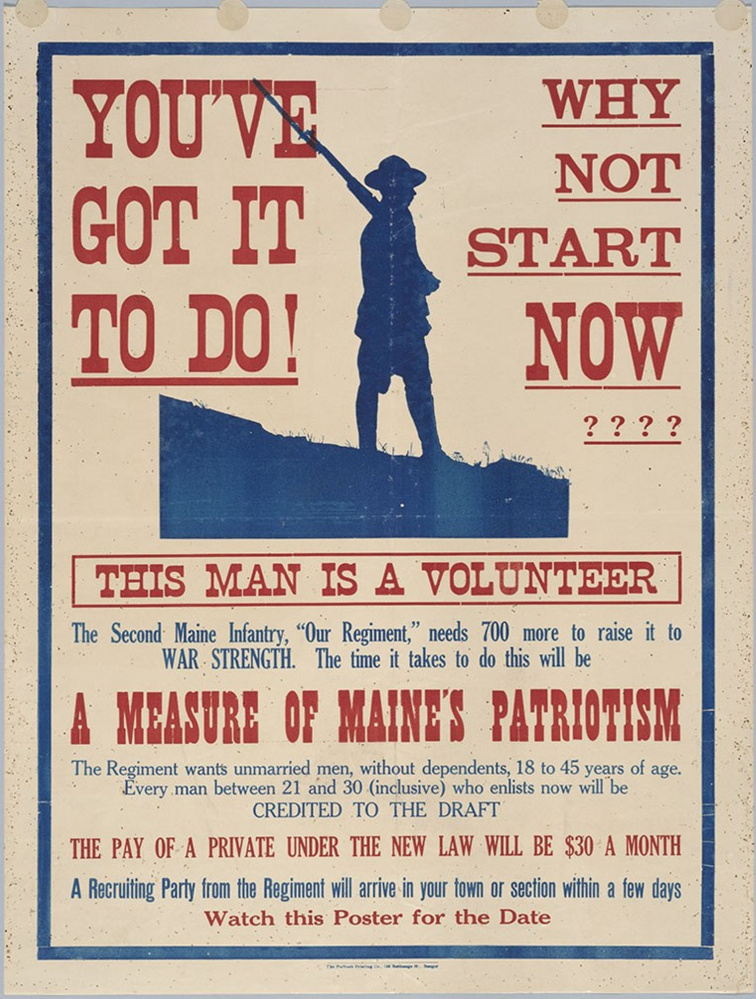 A WWI recruitment poster.