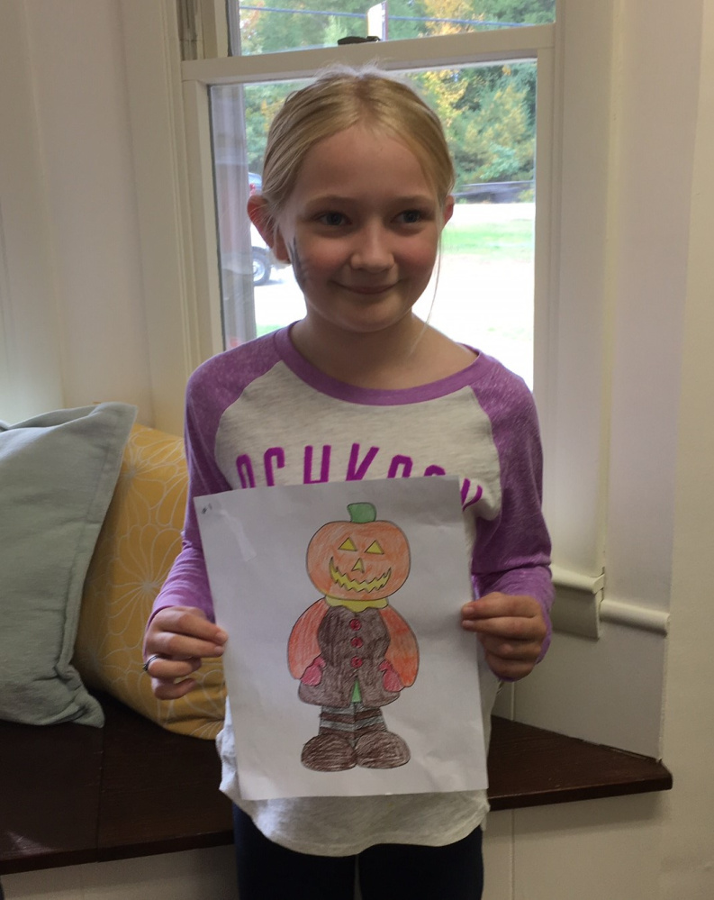 Heidi Osborne is the winner for the children 8-12 years old of the Friends of the Belgrade Public Library Coloring Contest, she received $5.