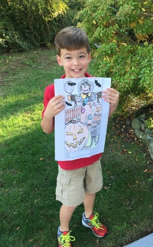Nathan Loeckler is the winner for the children 7 and younger of the Friends of the Belgrade Public Library Coloring Contest, he received $5.