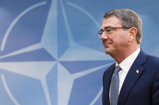 U.S. Secretary of Defense Ash Carter arrives for a meeting of the North Atlantic Council Defense Ministers session at NATO headquarters in Brussels, Wednesday, <em>Associated Press/Geert Vanden Wijngaert</em>