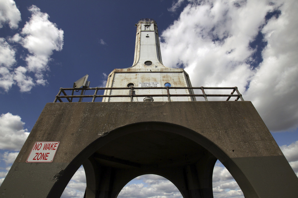 The city of Port Washington, Wis., is in the process of acquiring this lighthouse, with plans to raise and spend $1.5 million to restore it.    Associated Press/Carrie Antlfinger
