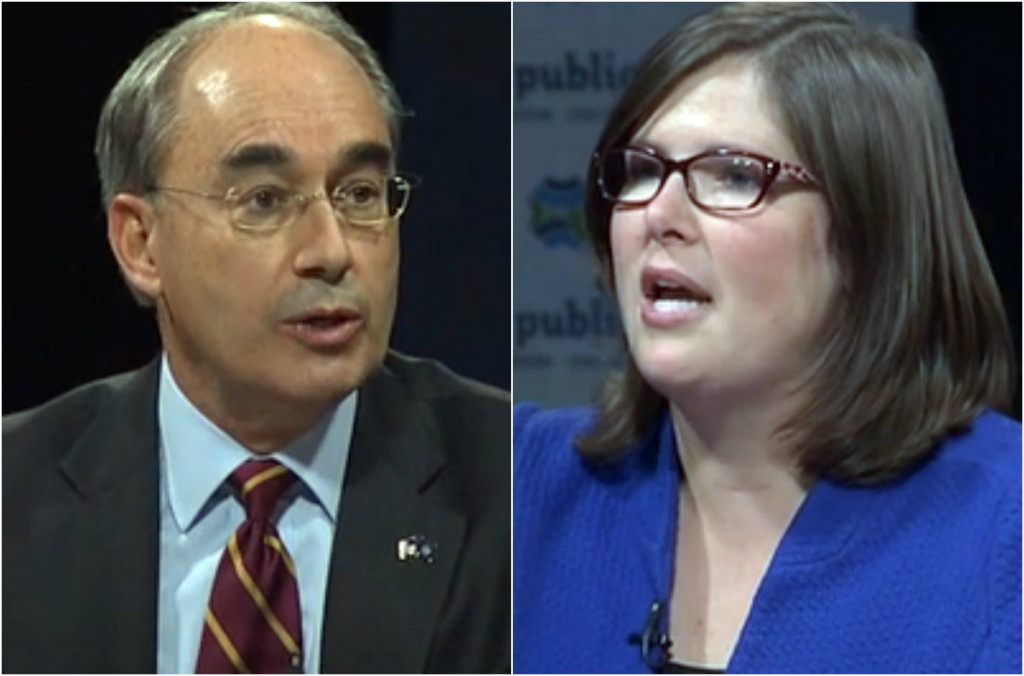 Bruce Poliquin and Emily Cain