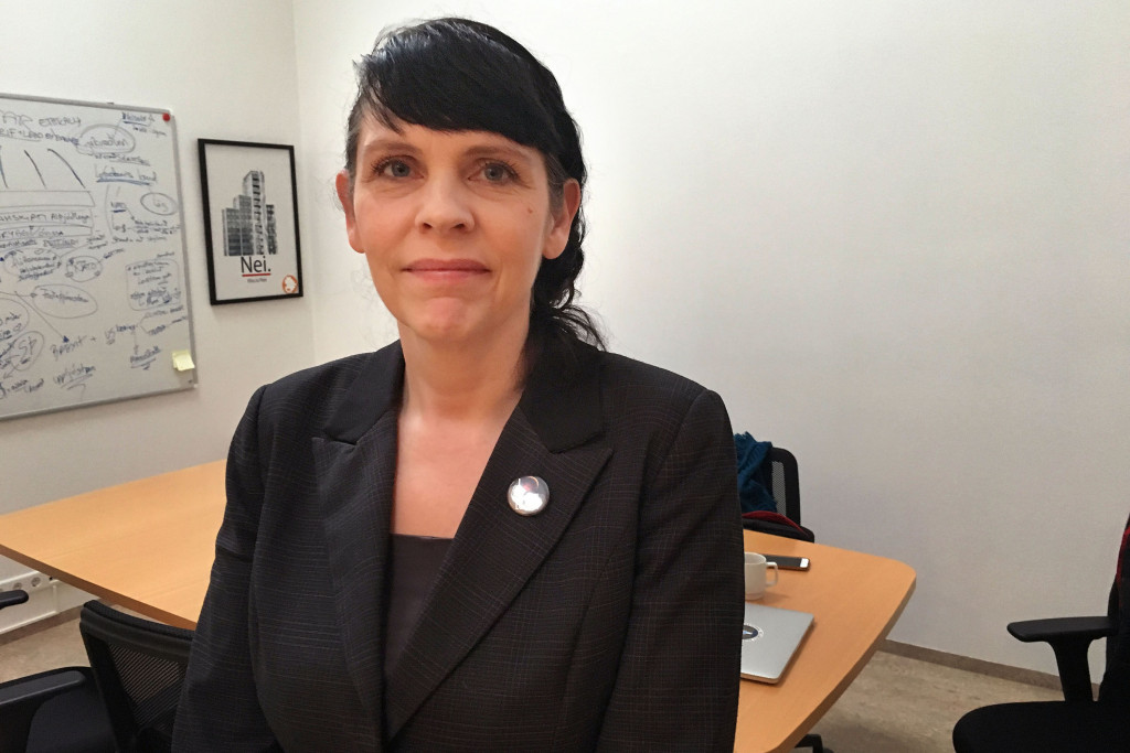 The rise of the Pirate Party- from radical fringe to focal point of Icelandic politics - has astonished even the party's founder, Birgitta Jonsdottir, seen at the party's office in Reykjavik, Iceland.   Washington Post photo by Griff Witte