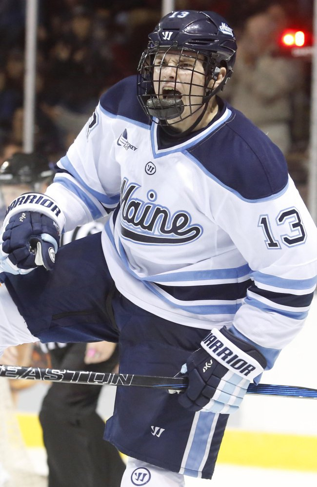 UMaine's Nolan Vesey is out to beat the schools that showed little interest in him, including Boston College.