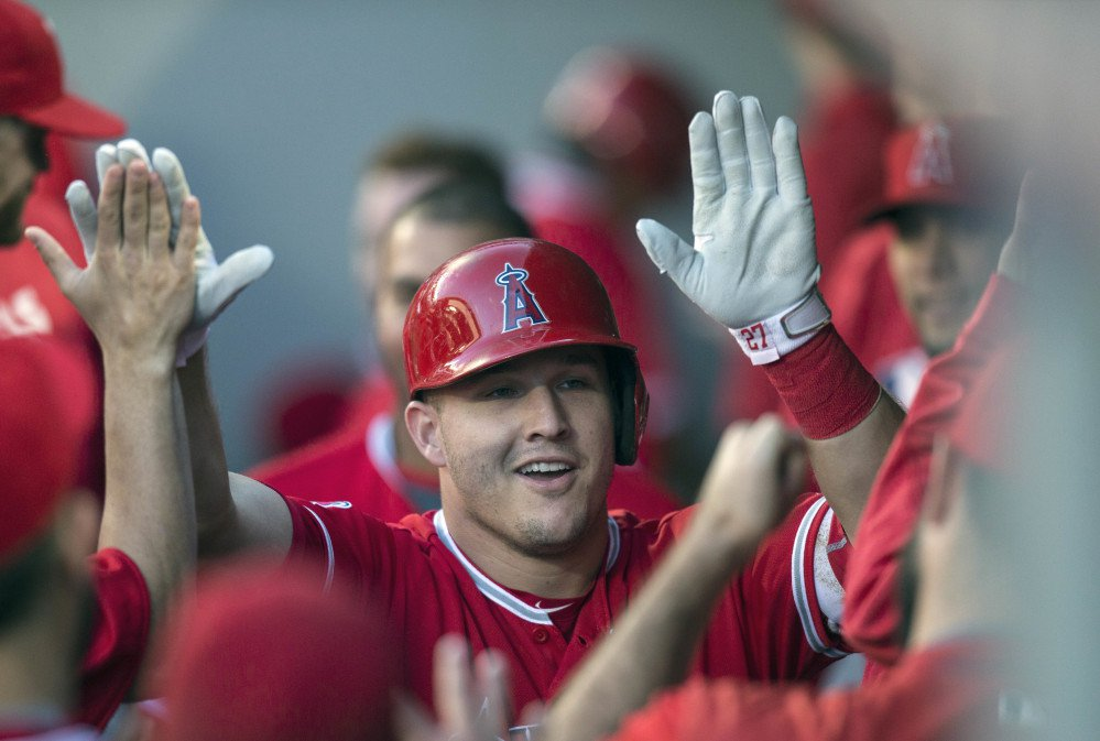 The Los Angeles Angels' Mike Trout was named MVP after a brilliant year for a dismal team.