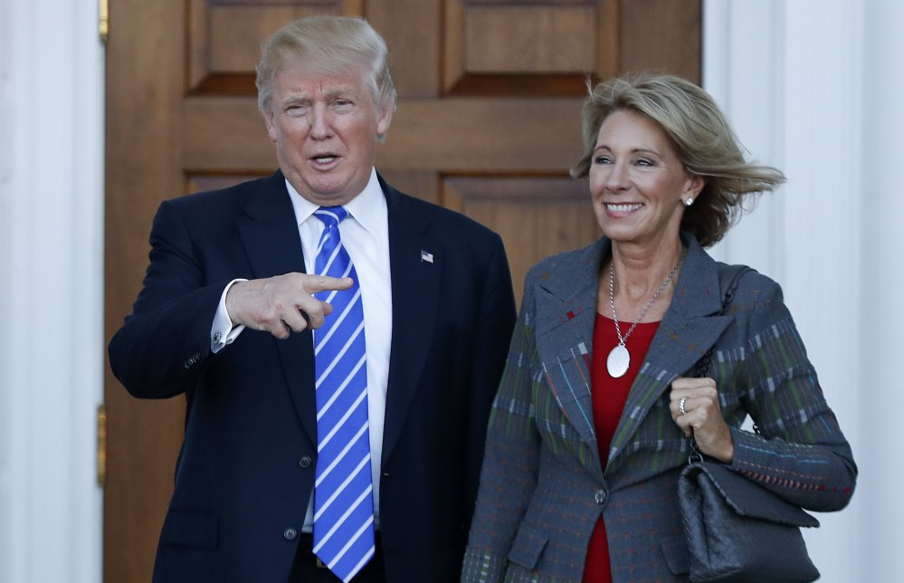 President Donald Trump's choice of Betsy DeVos as education secretary is seen to suggest little regard for public schools and raise concerns about church-state separation.