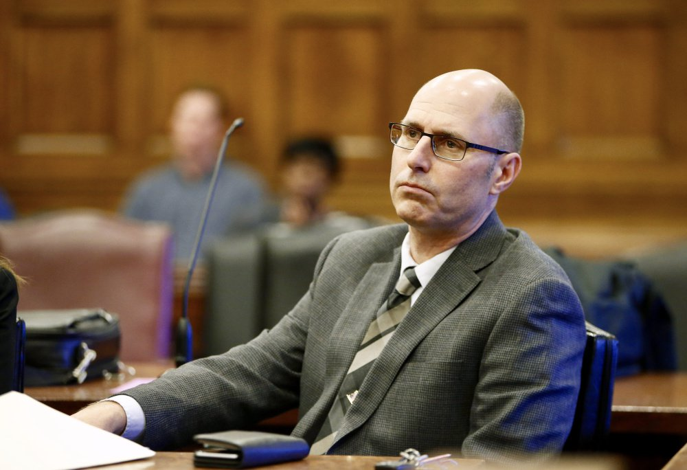 Gregory Nisbet at his sentencing hearing on Tuesday morning in Portland