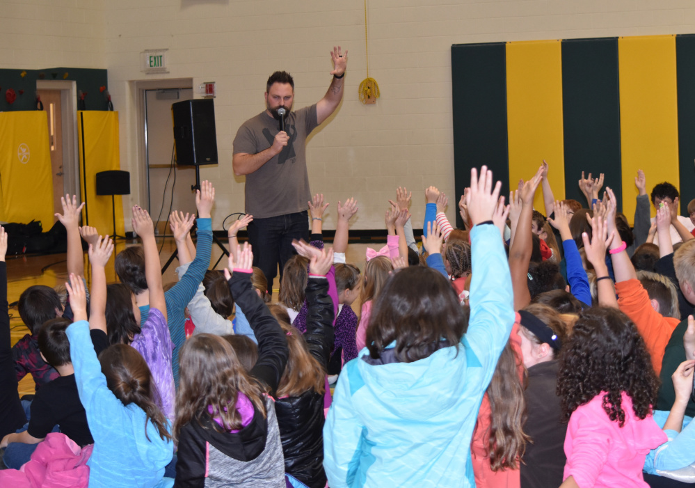 Jared Campbell recently performed and talked to students at Chelsea Elementary School.