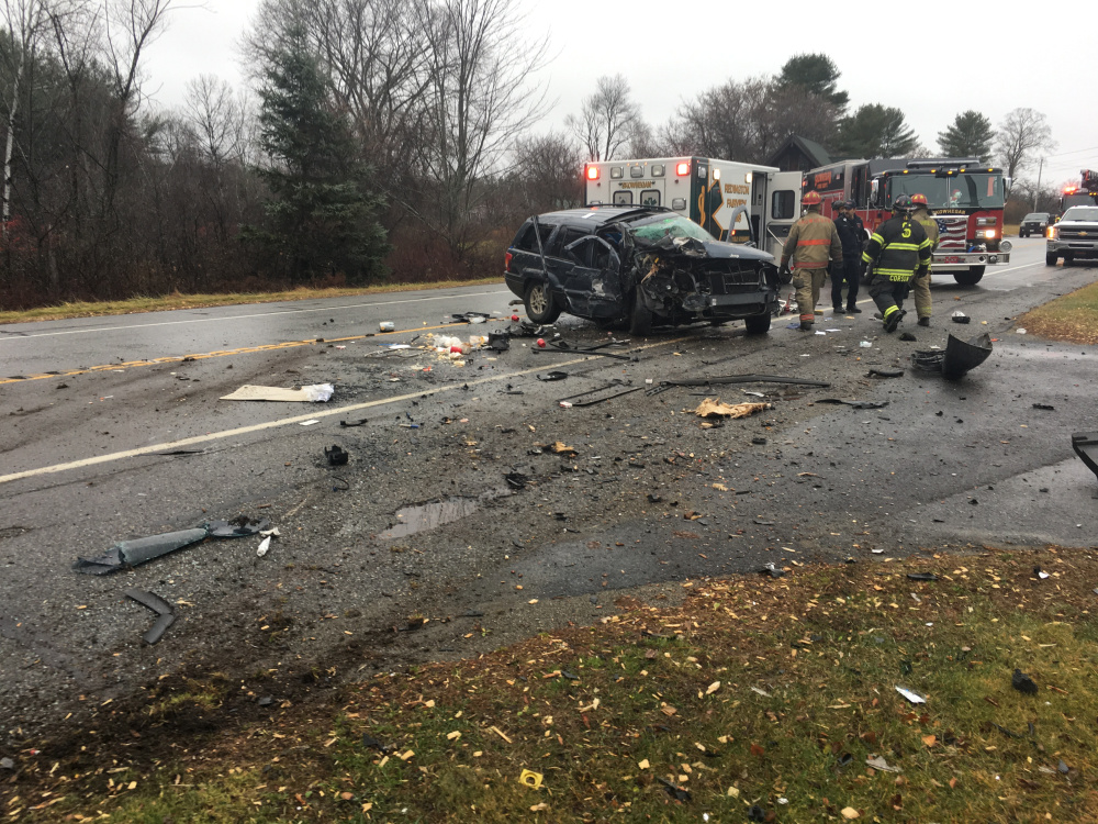 A Jeep Grand Cherokee struck a tree and rolled over on Waterville Road in Skowhegan on Sunday, ejecting the vehicle's one passenger, Aja Lemieux, and injuring the driver, Aric Libby. Both were transported to Eastern Maine Medical Center in Bangor.