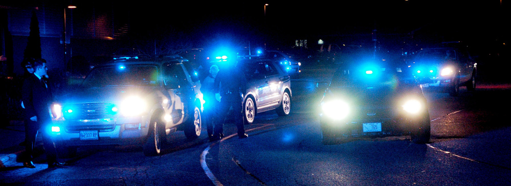 Police converge in Fairfield to honor former colleague