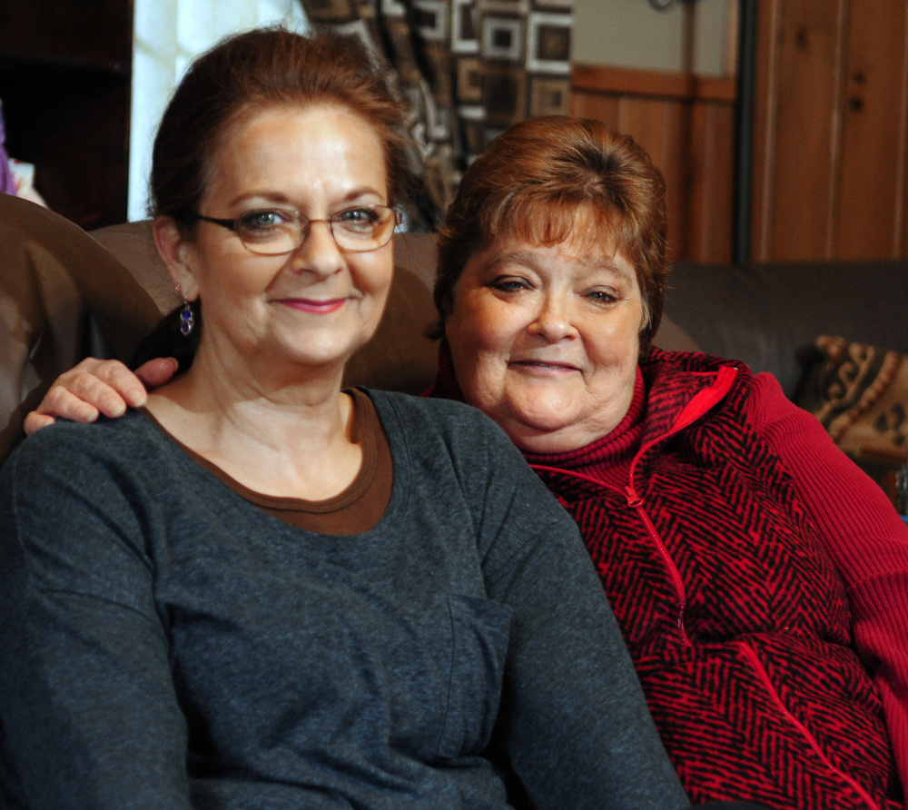 Bonnie Pease, left, has always helped her sister Cindy Brown deal with Brown's health problems and even let Brown move into her Wayne home. The pair sit for a portrait on Tuesday in Wayne.