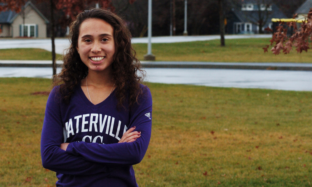 Waterville senior Cecilia Morin is the Morning Sentinel Girls Cross Country Runner of the Year.