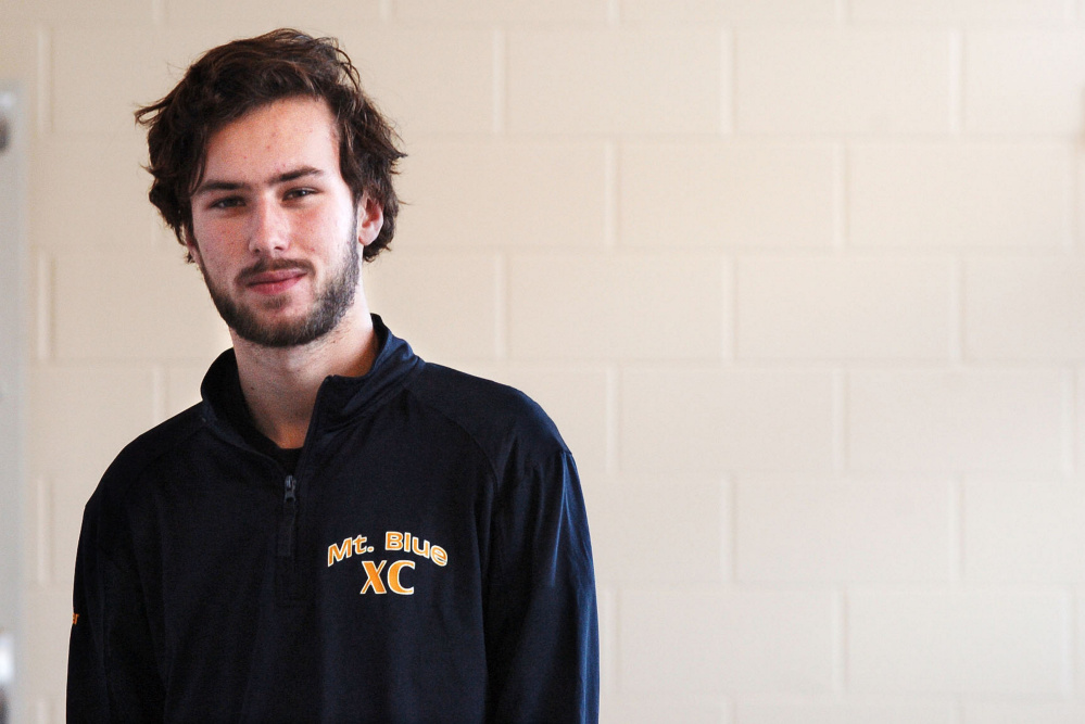 Staff photo by David Leaming   Mt. Blue's Tucker Barber is the Morning Sentinel Boys Cross Country Runner of the Year.