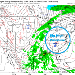 High pressure will keep the weather storm free for the foreseeable future