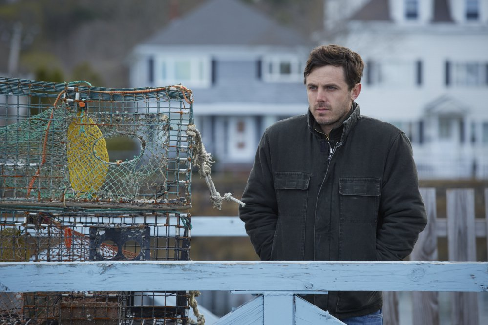 """Casey Affleck in a scene from """"Manchester By The Sea."""" Affleck was nominated for a Golden Globe award for best actor in a motion picture drama for his role in the film."""