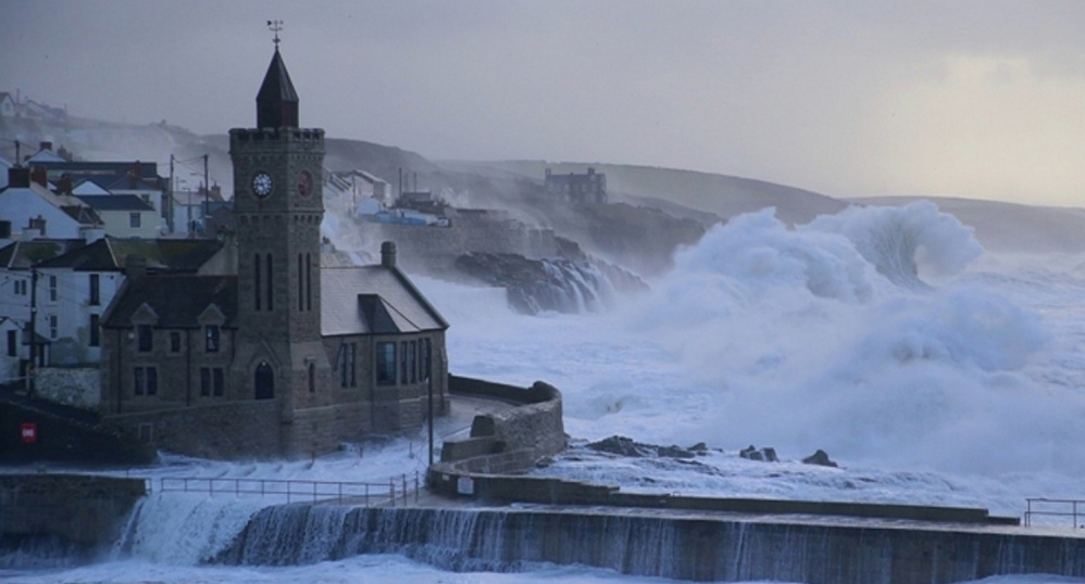 Waves crashing onto the Cornish coast in 2014 can inspire awe, but researchers said they measured a 62-foot monster in the North Atlantic in February 2013.