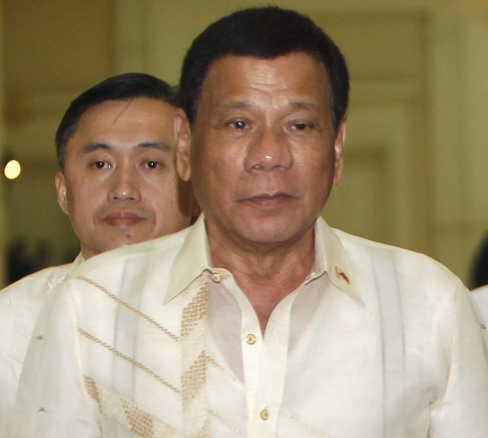 Philippine President Rodrigo Duterte lashed out at the United States regarding a philanthropic aid package.