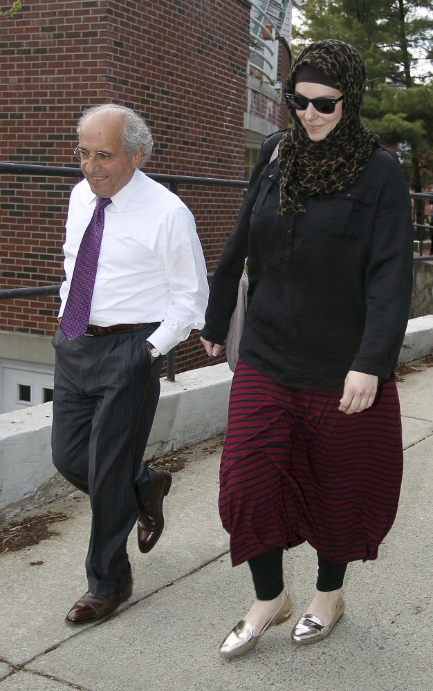 Katherine Russell, right, widow of Tamerlan Tsarnaev, says she had no knowledge of the bombing plot beforehand.