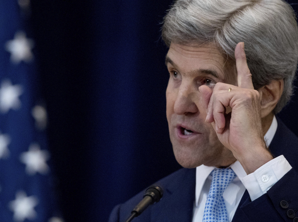 Secretary of State John Kerry on Wednesday addresses the Israeli-Palestinian conflict in a speech in Washington.