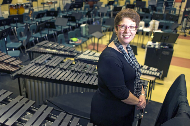 """Amy DeLorge, a music educator at Biddeford Middle School, says, """"I thought, how can I help teach more compassion and empathy and love? There must be a way to do that through music."""""""