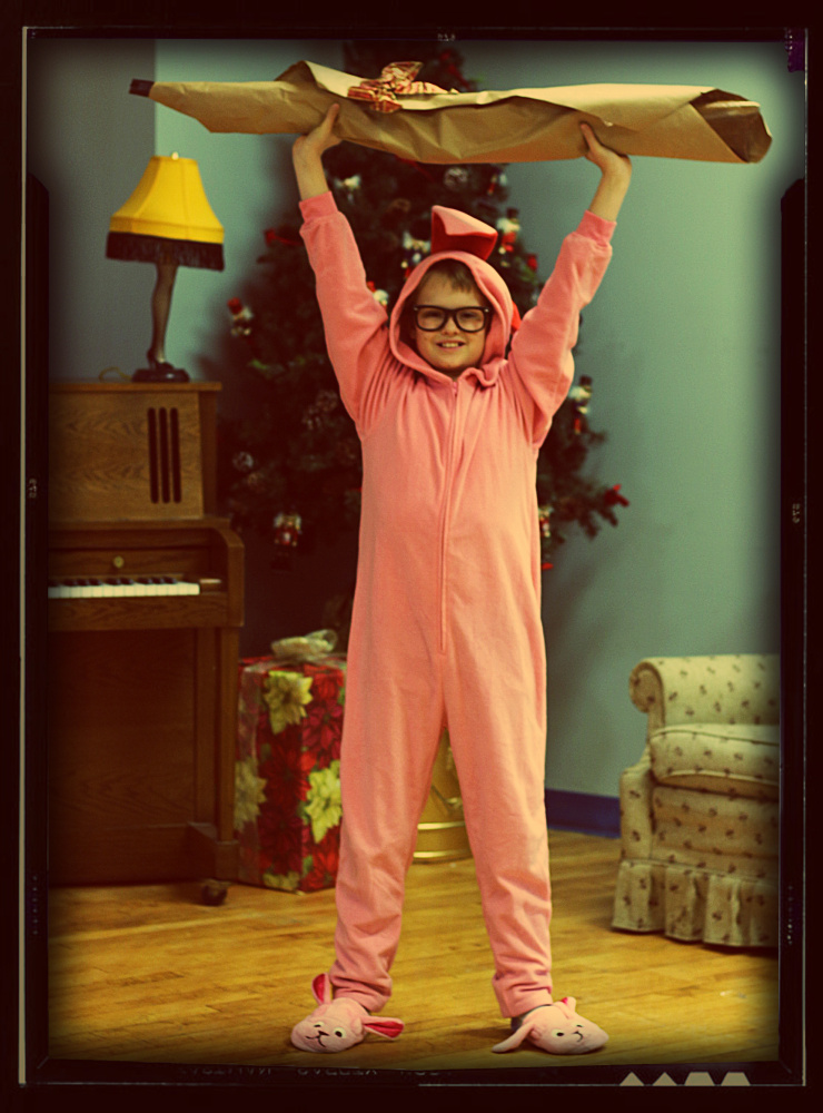 "Andrew Lyndaker is Ralphie in the Waterville Opera House production ""A Christmas Story, The Musical!"""