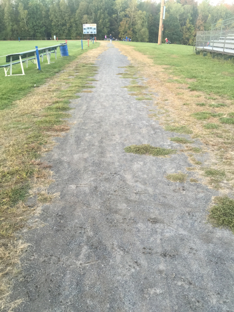 "Messalonskee High School's current outdoor track, called the ""dirt oval,"" will undergo soil testing for possible improvements."