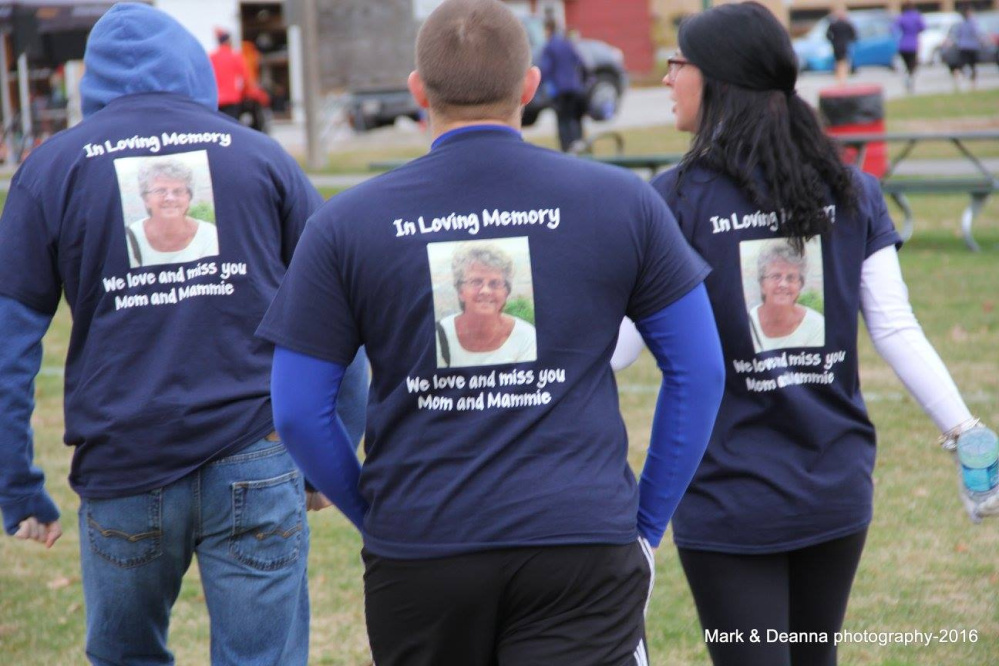Free ME from Lung Cancer hosted its 5th annual Save Your Breath 5K timed run on Nov. 6. Pam's Pacers during the 5K.