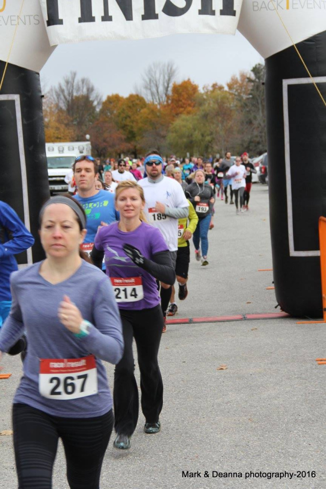 Free ME from Lung Cancer hosted its 5th annual Save Your Breath 5K timed run on Nov. 6. Various runners take part in the 5K include Bib 267 Vanessa Matthews, Bib 214 Julie Hurmaty's and Bib 185 Rebecca LaChance.